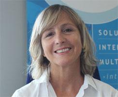 Portrait de Marie-Jo Burucoa, présidente du Cluster Pays basque Digital